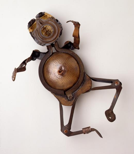 found objects, mixed media, repurposed, assemblage, figurative