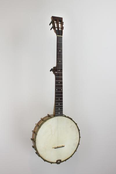 Banjo with slotted peghead made by Pete Ross.
