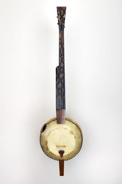 Custom gourd banjo made by Pete Ross.