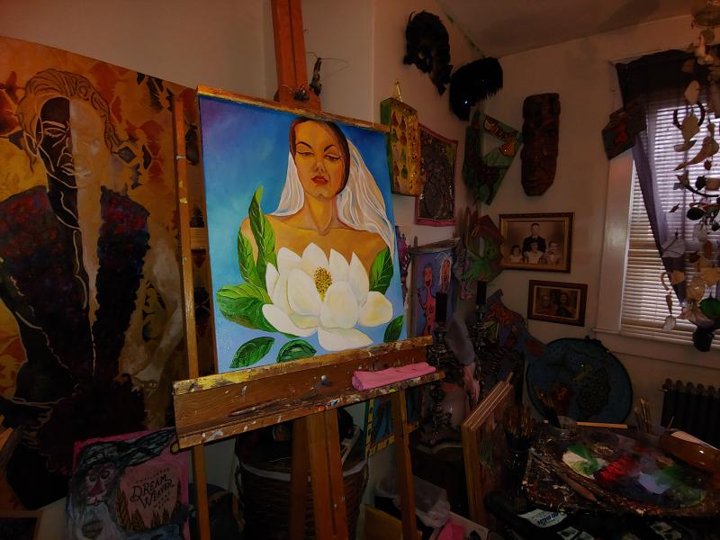painting, contemporary, oils, artist, female,