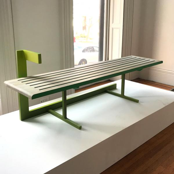 Steel and Oak Chaise