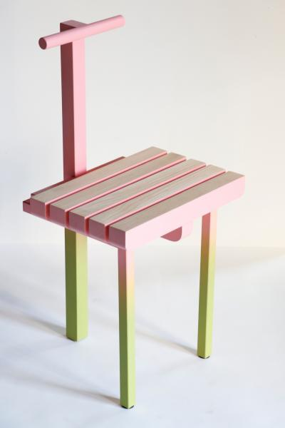 """""""Chair 3"""" Painted Steel and Ash"""