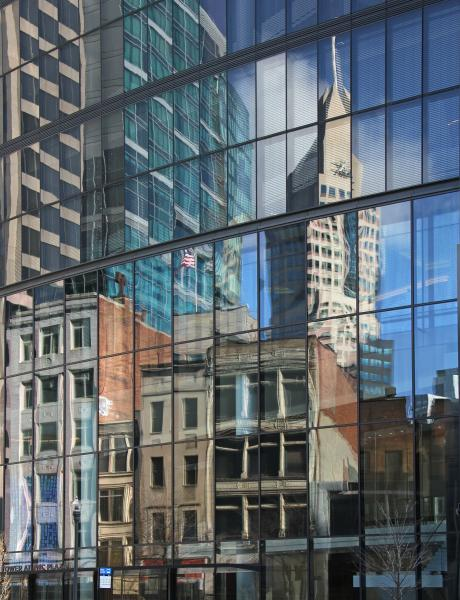 Two Cities architecture buildings reflection 20th century Pittsburgh Pennsylvania PNC Plaza