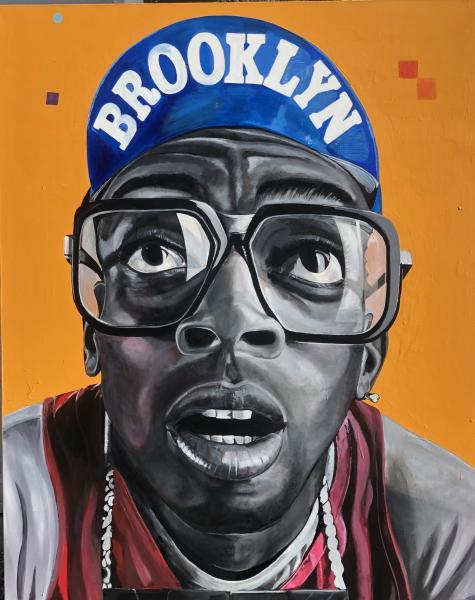 Large Paintings , Portrait painting , Spike Lee ,