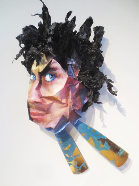 Sculpture, mixed media, wood, painting, printmaking, paper