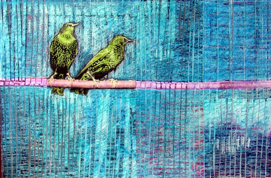 collage, starlings, baltimore