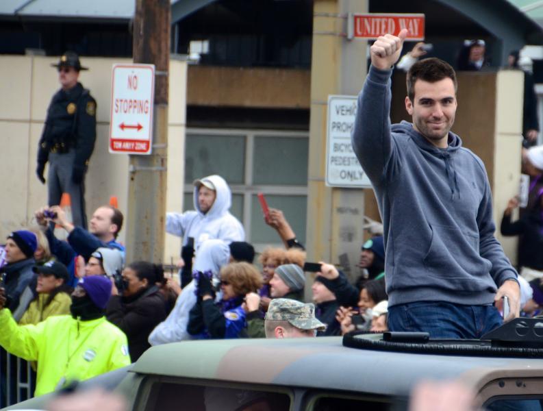 Ravens Celebrate Winning Super Bowl