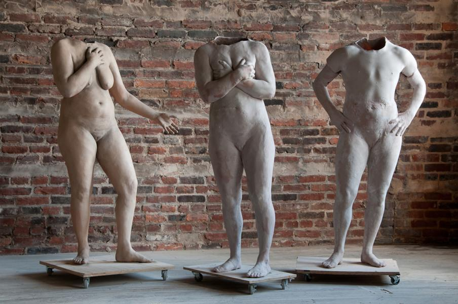 Transgender, life casting, sculpture, figurative, queer art,