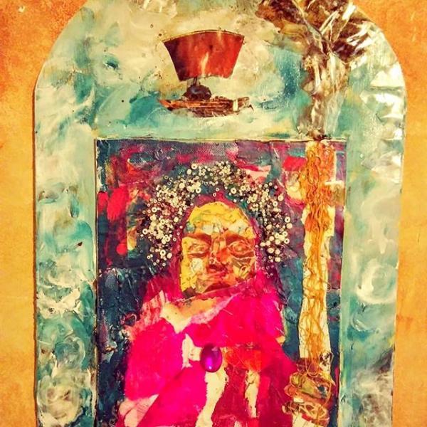 retablos, saints, collage, dreams, afrofuturism