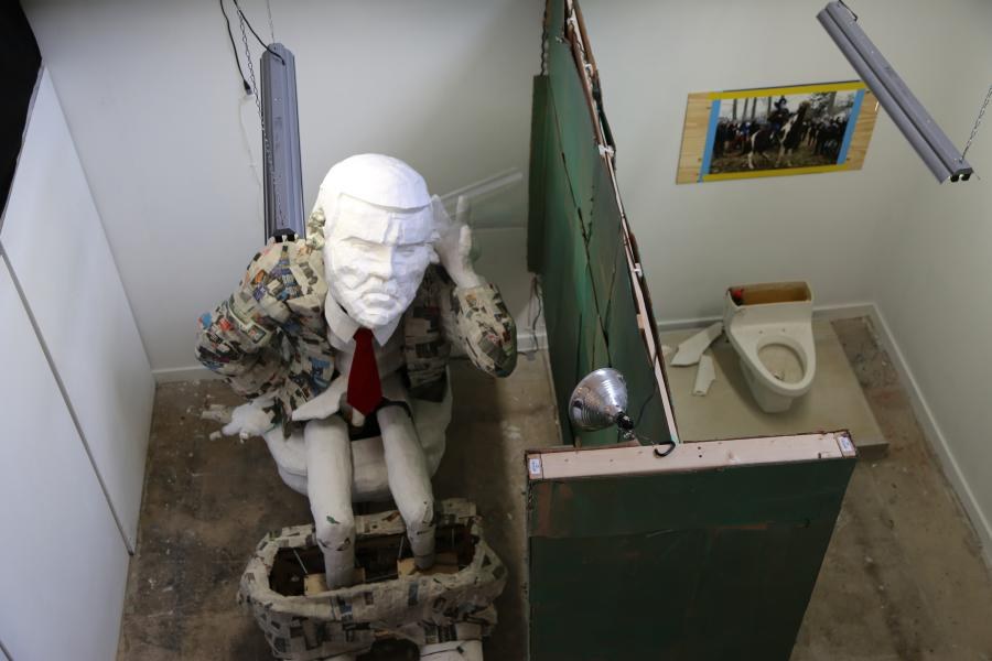 Pissed.  Mardi Gras. Floats. Installation.  Kinetic Sculpture