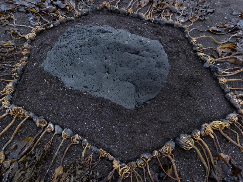 Basalt, hexagon, stone, land art, earth art