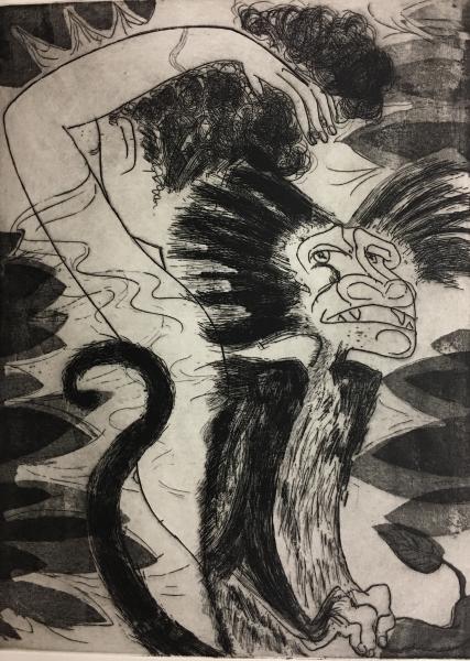Alpha Monkey etching