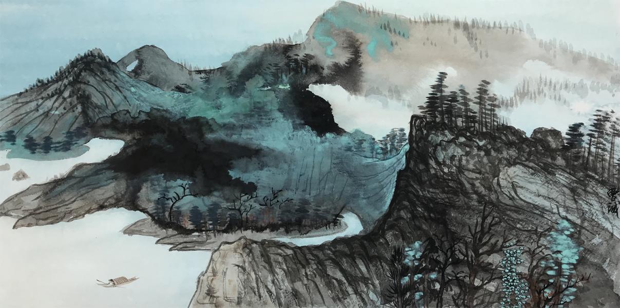 City, Chinese ink, Chinese Painting, Splash ink