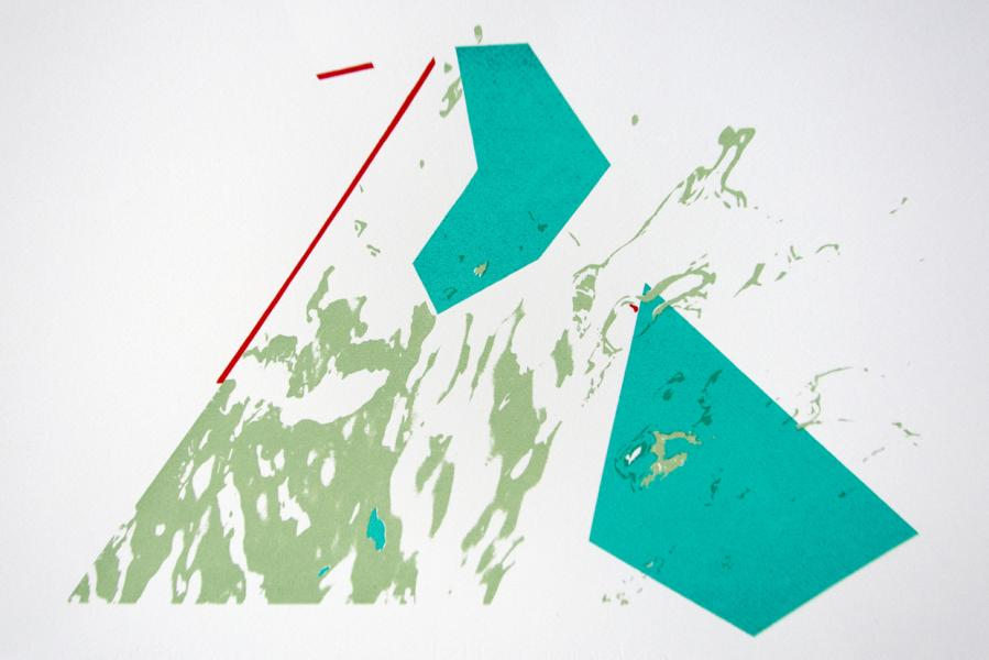 Uncommon Routes screenprint on paper