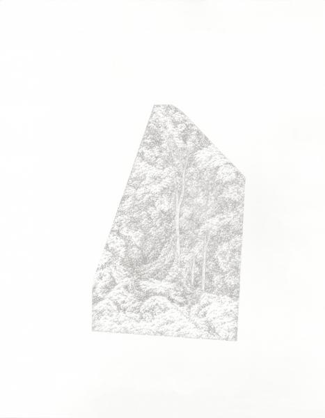 "Window #1, silverpoint on prepared paper, 14"" x 11"", 2019."