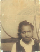 A photo of Pamela Woolford mother Sadie Woolford in 1940s rural North Carolina
