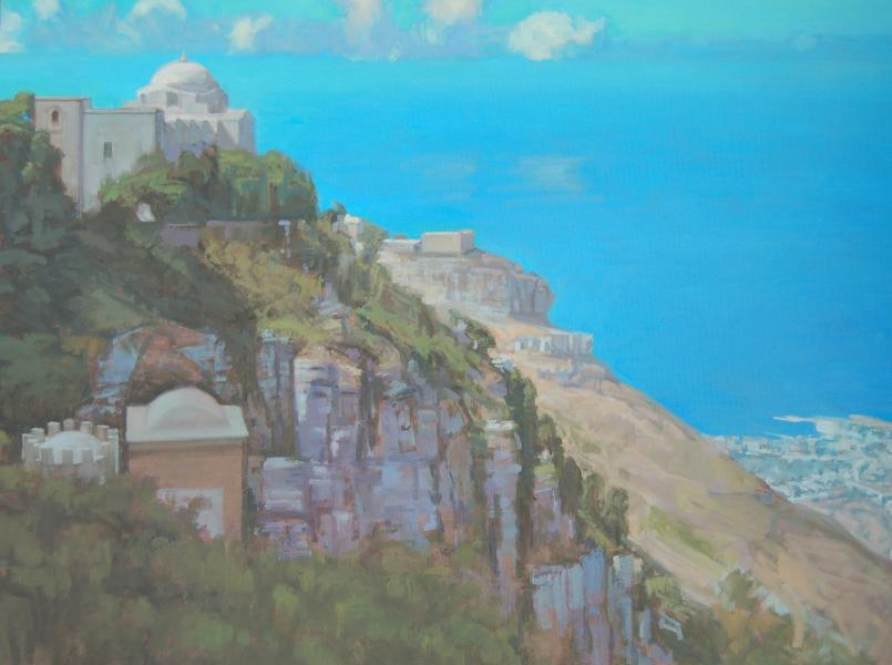 Erice Sicily Looking North