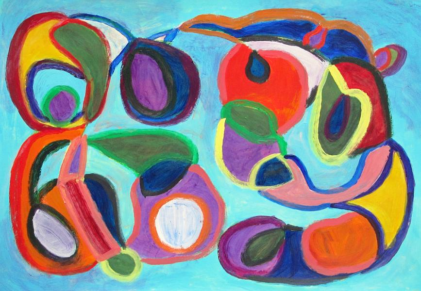 Let's Play, painting by Carol McGraw