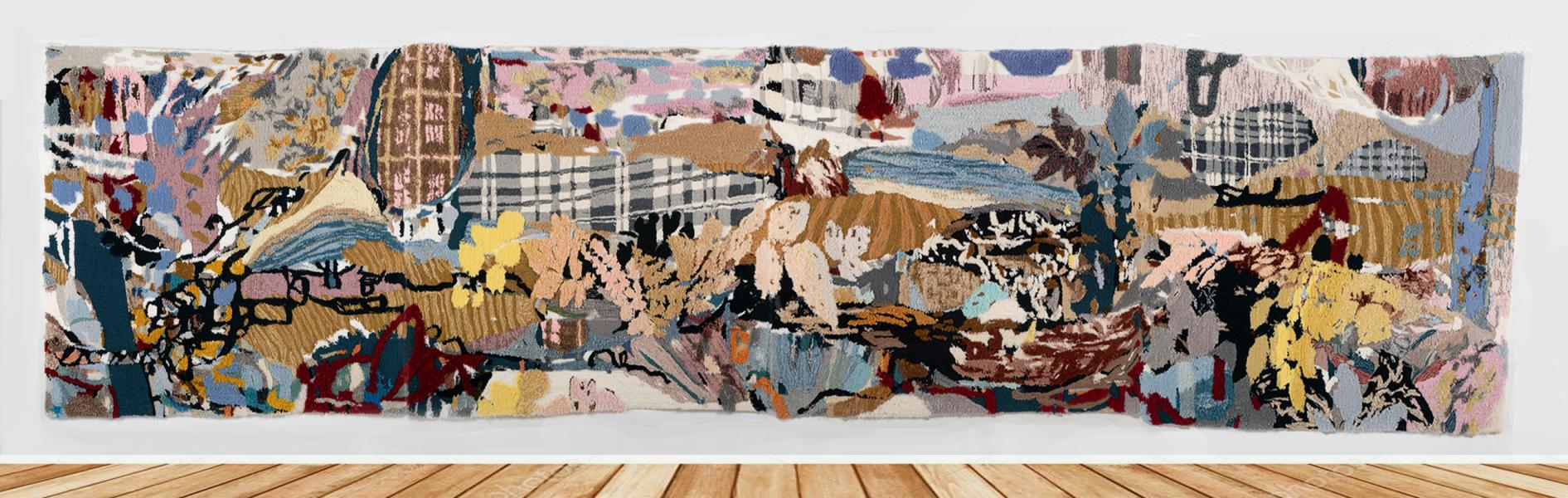 Textile art, rug, painting
