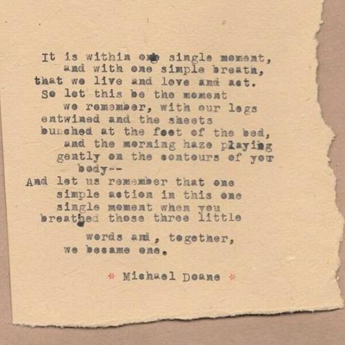 Typewriter Poem by Michael Doane