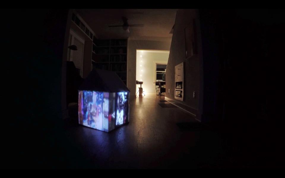 "A video sculpture installation detail from ""Do you remember"""
