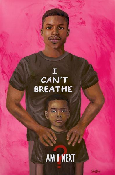 Black Lives Matter, I Can't Breathe, Am I Next?, Black Art, African American Art
