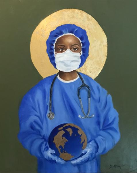 Protect US, Nurses, Essential Workers, Covid19, art,