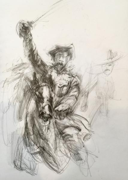 theodore roosevelt, rough rider, history drawing