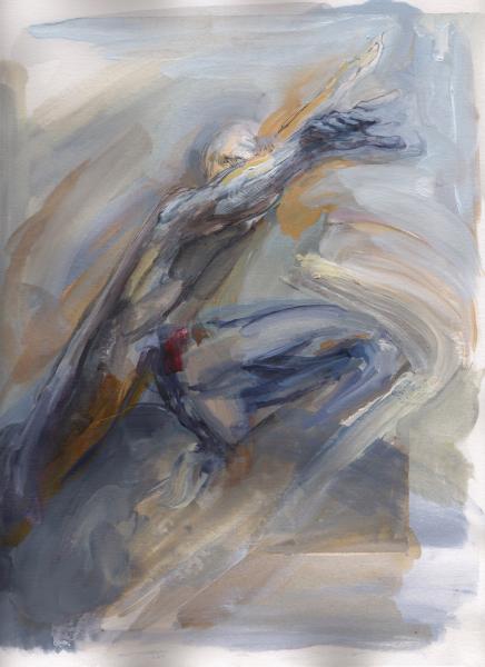 silver surfer, golem, comic painting, mythology