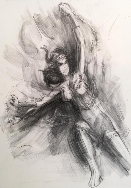 Wonder Woman, drawing, art, suffrage, chains, comic books, feminism