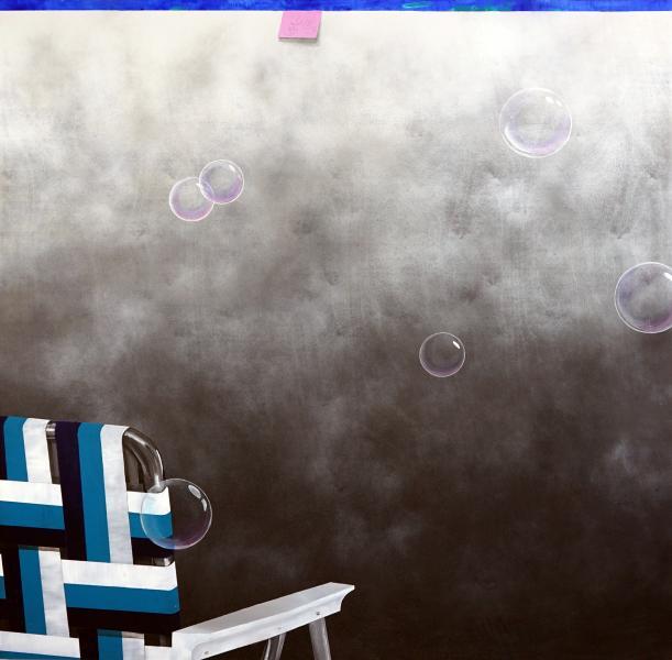 """""""Haze"""" acrylic on panel, 2019 60"""" x 60"""""""