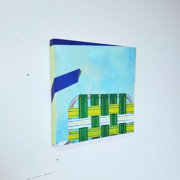"Identity as trompe l'oeil, acrylic on panel, 2020, 10""x 10"""