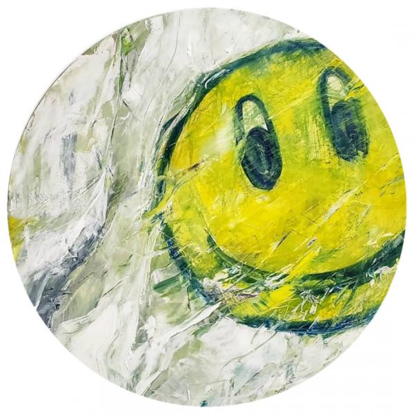 """""""Maintain""""  Oil and acrylic on canvas, 2019 24"""" x 24"""""""