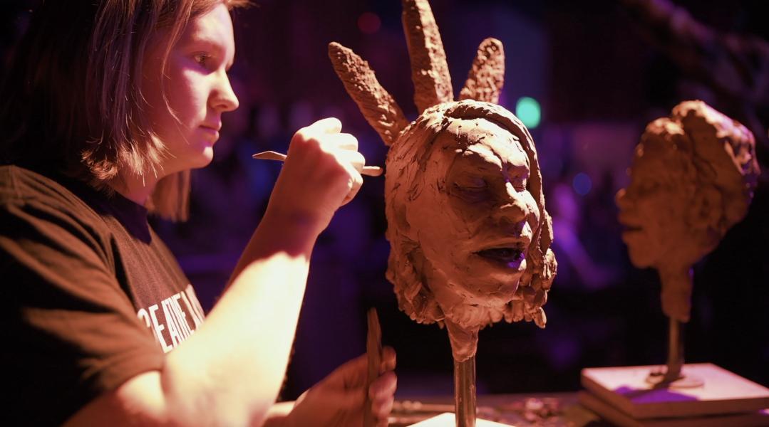 Sculpting Navasha Daya and the Soul Protectors at Creative Alliance
