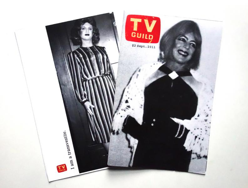 TV GUILD, 2011.  TV Guild was a one-shot, single sheet, fold-out zine. A continued exploration of my interest in pre-internet gay culture.