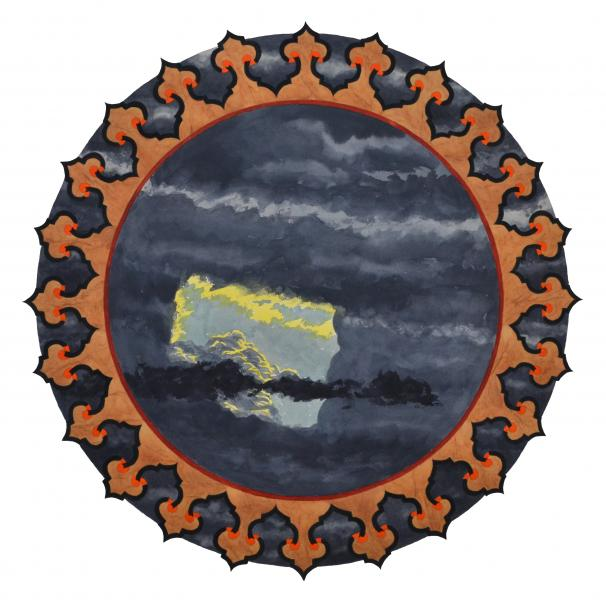 ponemone planet watercolor mughal