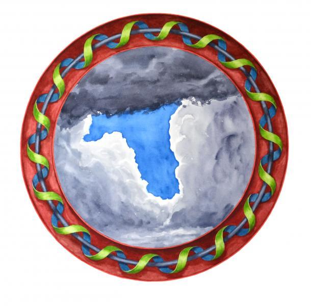 ponemone planet watercolor mosaic roman