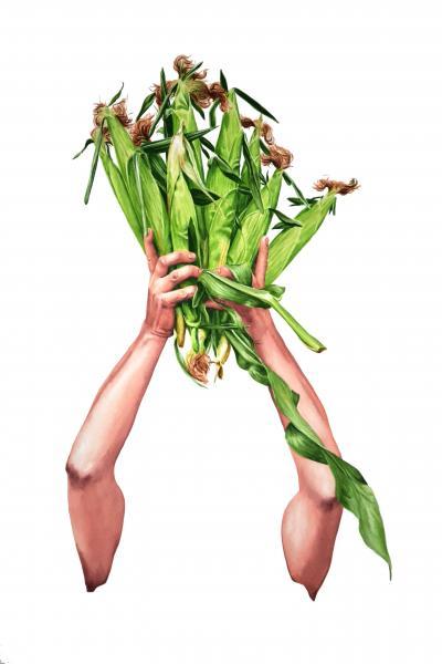 ponemone food watercolor corn