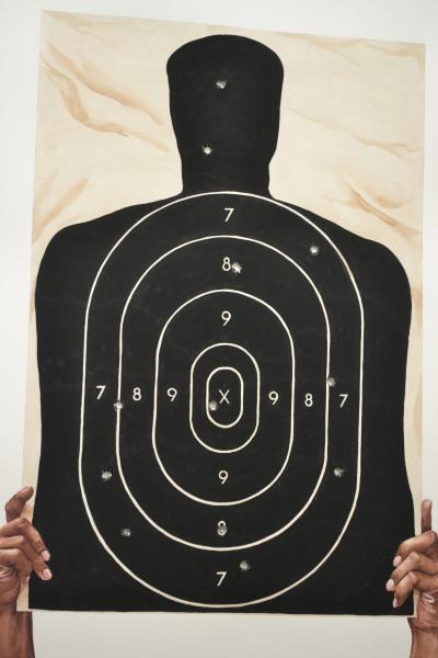 Ponemone watercolor target gunfire homicide