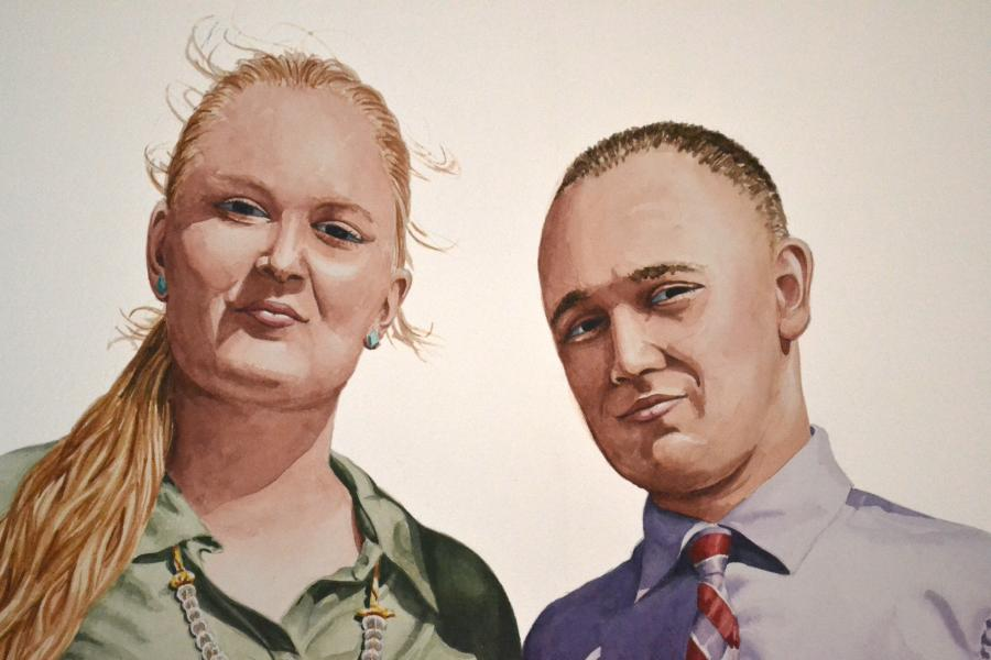 watercolor couples portraits