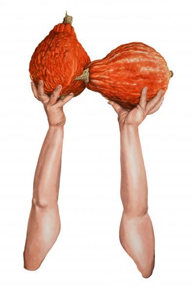 ponemone food watercolor gourds