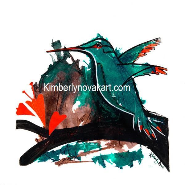 Humming Bird, India Ink, Nature, Bird