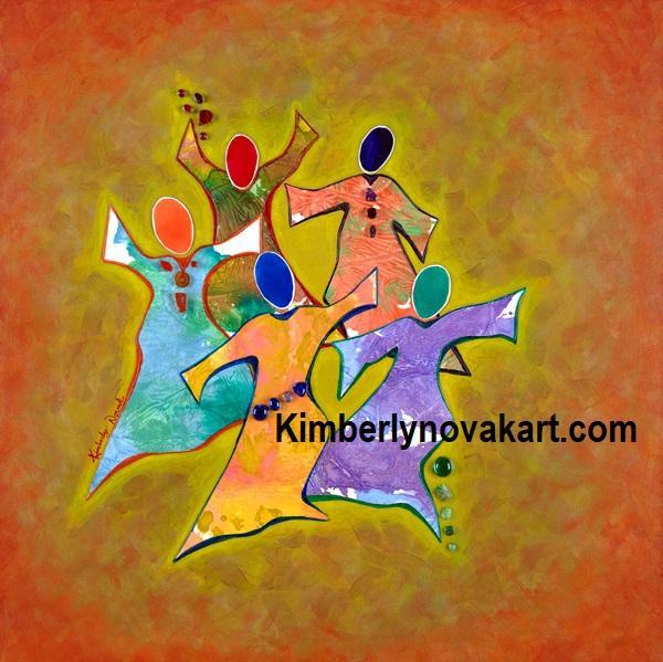 Women, Spirit, Gifts, India Ink Collage, Church, Worship