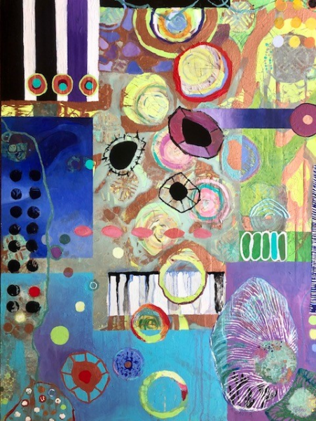 abstract acrylic composition mixed media