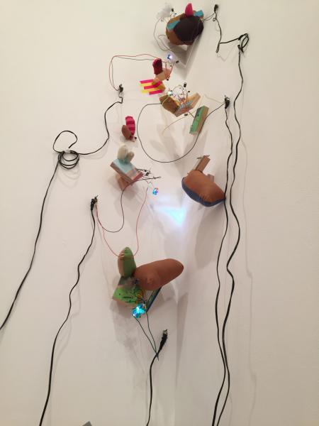 light emitting sculpture installation