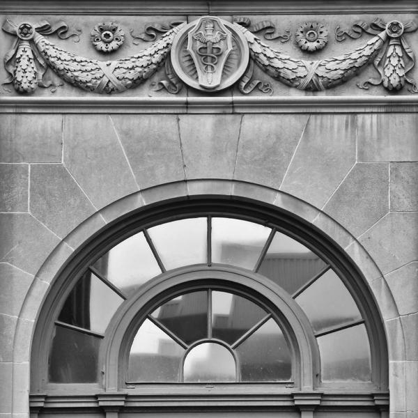 Griest Building architecture Italian Renaissance Revival Lancaster Pennsylvania caduceus