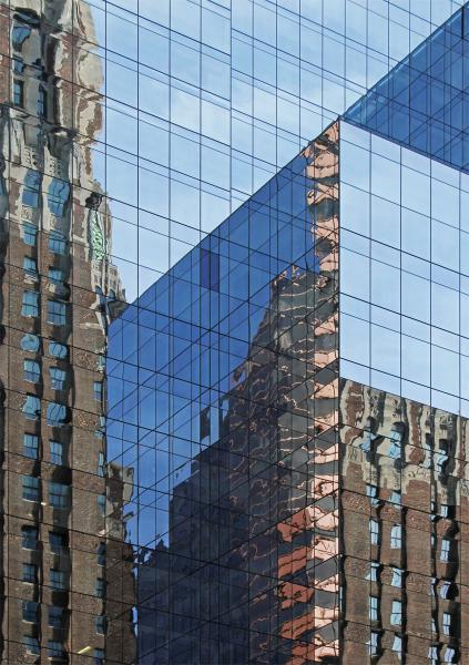 Two Banks M&T Bank of America Baltimore Maryland William Donald Schaefer Tower glass reflection cubism cubist abstract city downtown