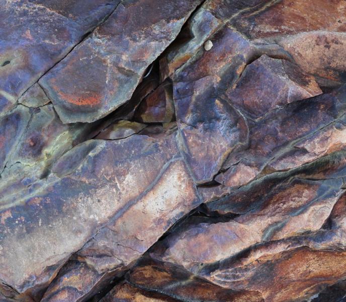 Shatter Zone abstract Acadia National Park Maine Bar Harbor volcano volcanic caldera rock rocks