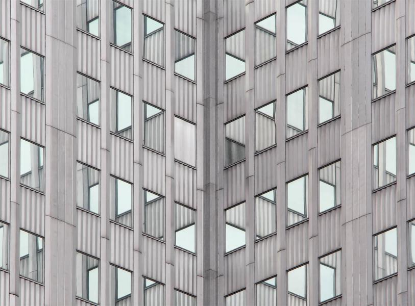Self-reflection mirror symmetry optical illusion abstract building windows arcchitecture Gateway Pittsburgh Pennsylvania