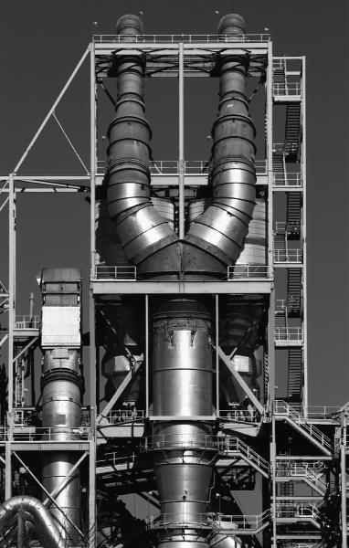 Tin Man structure black white robot cement plant factory New Windsor Maryland Lehigh Hanson